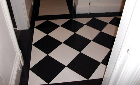 dining room floor tiling